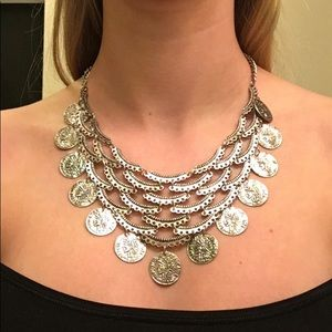 Jewelry - Boho silver adjustable statement necklace